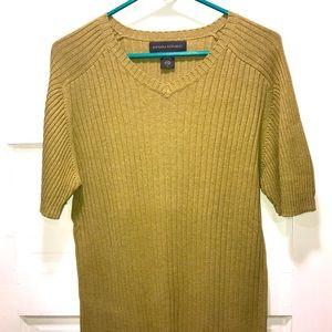Banana Republic ribbed short sleeve sweater SIZE L